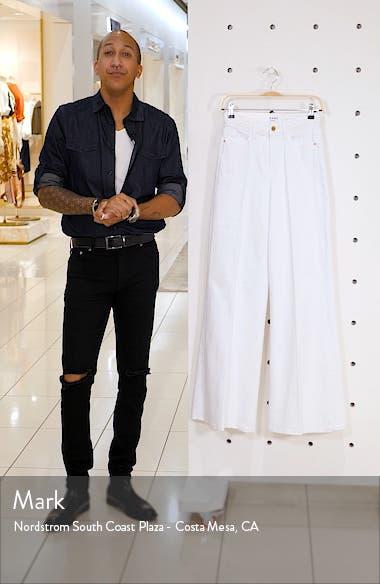 Le Palazzo Braid Waist Wide Leg Jeans, sales video thumbnail