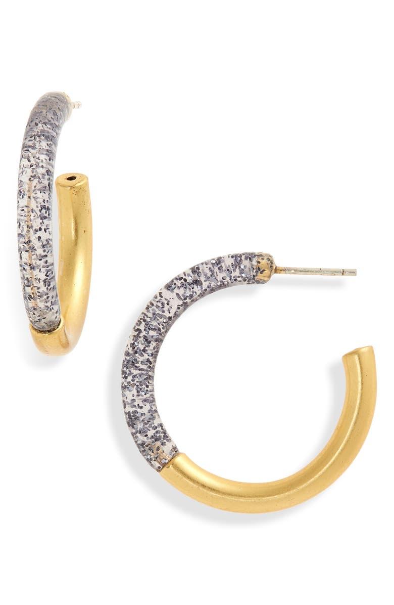 MADEWELL Small Half Acetate Hoop Earrings, Main, color, 020