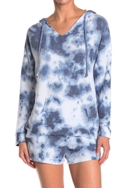 Image of Theo and Spence V-Neck Tie Dye Hoodie