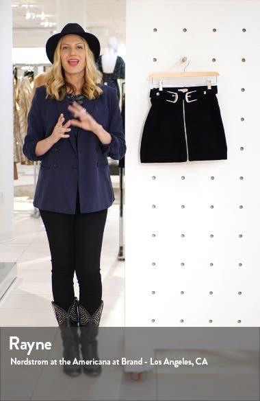 Double Buckle Corduroy Miniskirt, sales video thumbnail