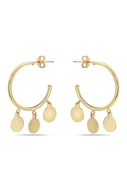 Image of Best Silver Inc. 14K Yellow Gold Open Hoop Earrings