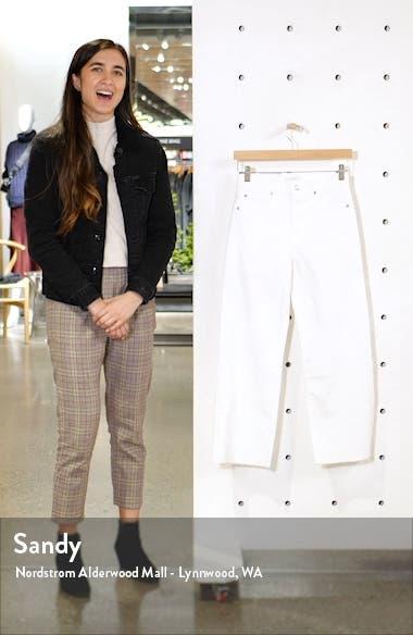 Alexa High Waist Raw Hem Crop Wide Leg Jeans, sales video thumbnail
