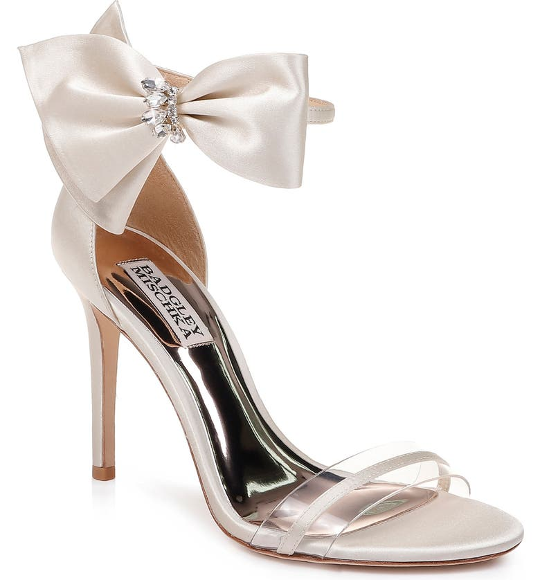 BADGLEY MISCHKA COLLECTION Badgley Mischka Fran Bow Ankle Strap Sandal, Main, color, 900