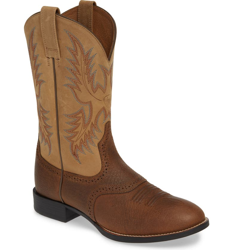 ARIAT Heritage Stockman Cowboy Boot, Main, color, 200