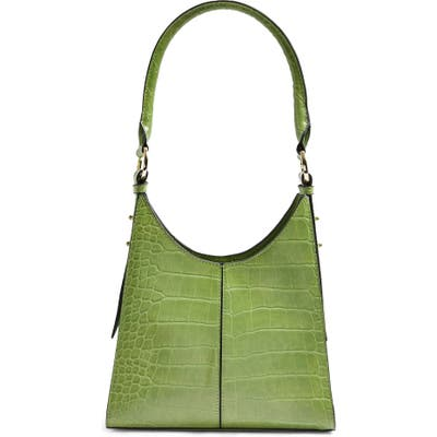 Topshop Ivy Faux Leather Shoulder Bag - Green