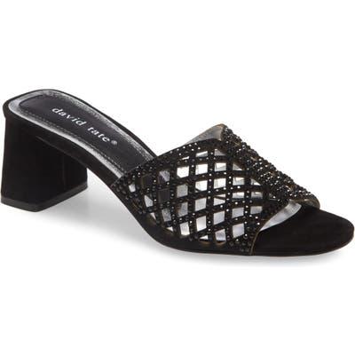 David Tate Clarity Block Heel Sandal, Black