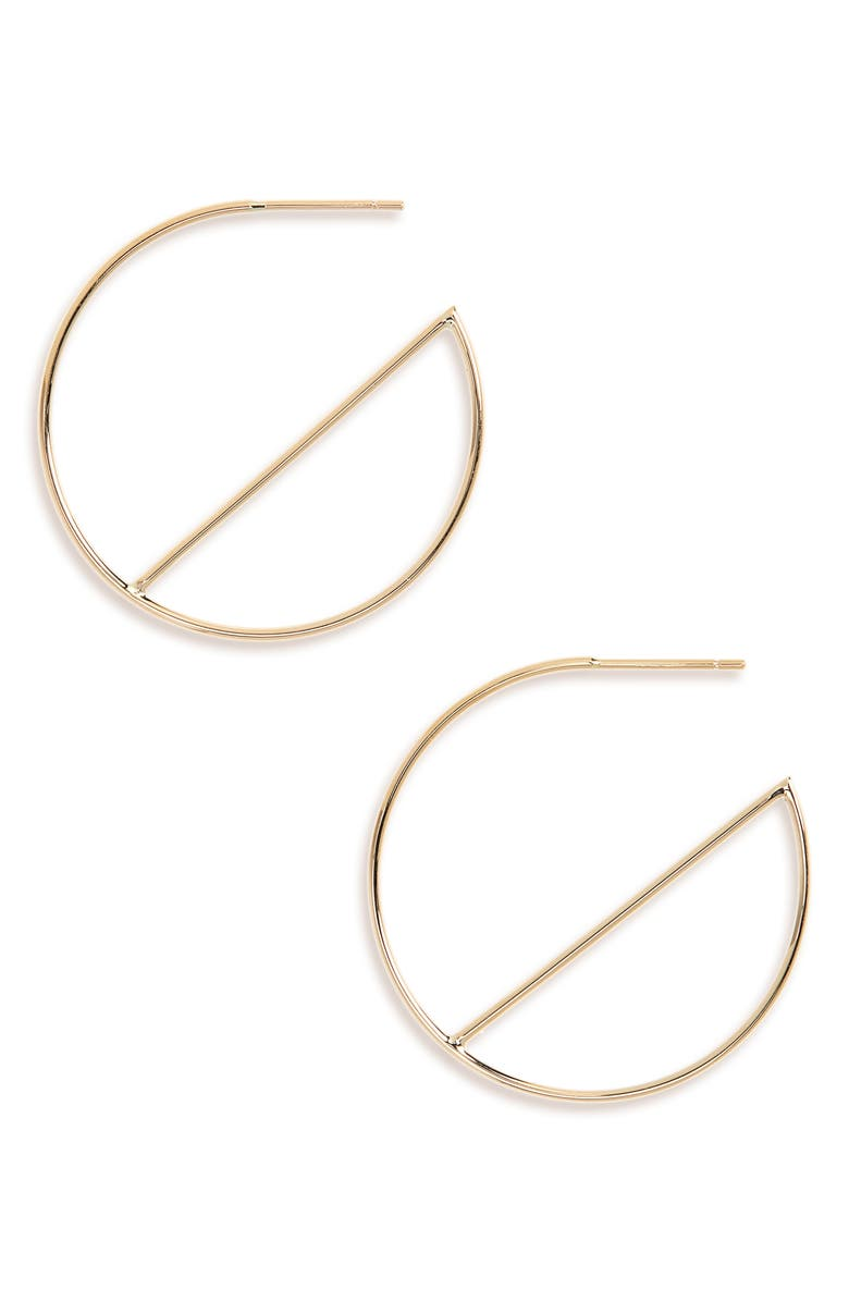 LANA JEWELRY Wire Eclipse Hoops, Main, color, 710