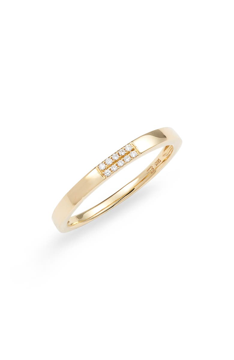 BONY LEVY Diamond & 18K Stacking Ring, Main, color, GOLD/ DIAMOND