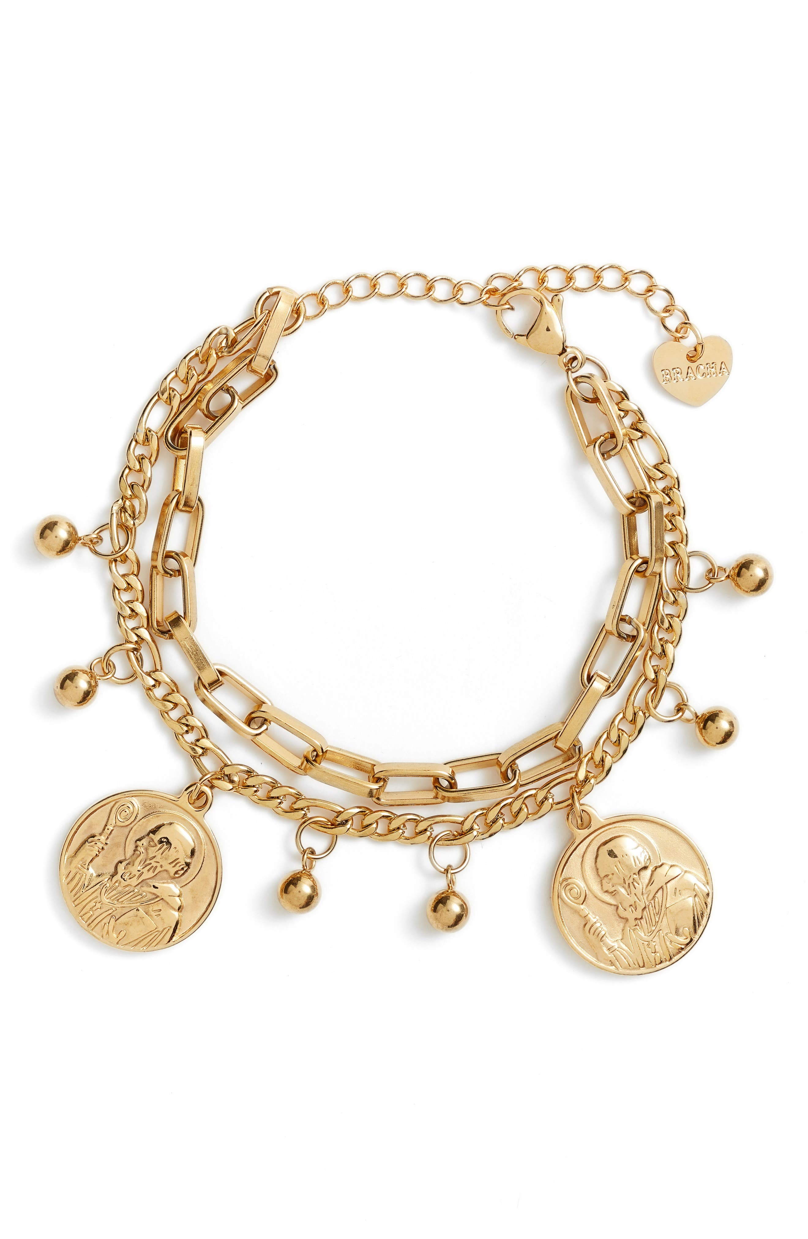 All Saints Coin Charm Bracelet
