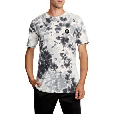 Rvca Happy Sad Tie Dye T-Shirt, Black