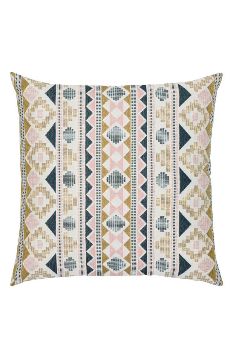 ELAINE SMITH Roca Stripe Indoor/Outdoor Accent Pillow, Main, color, BLUE MULTI