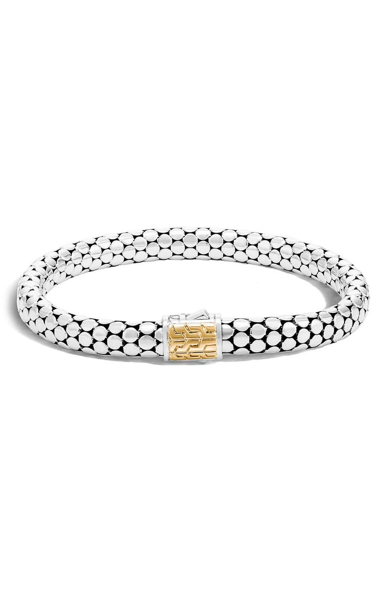 JOHN HARDY Dot Large Bracelet, Main, color, SILVER