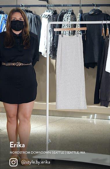 Textured Rib Midi Skirt, sales video thumbnail