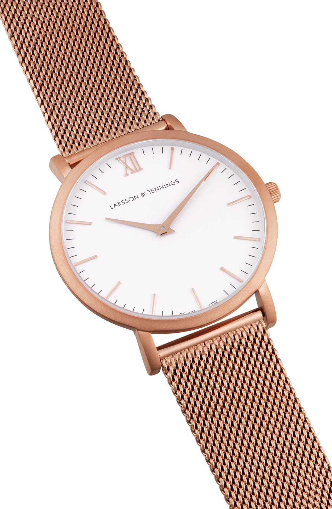 ,                             Lugano Mesh Strap Watch, 40mm,                             Alternate thumbnail 40, color,                             711