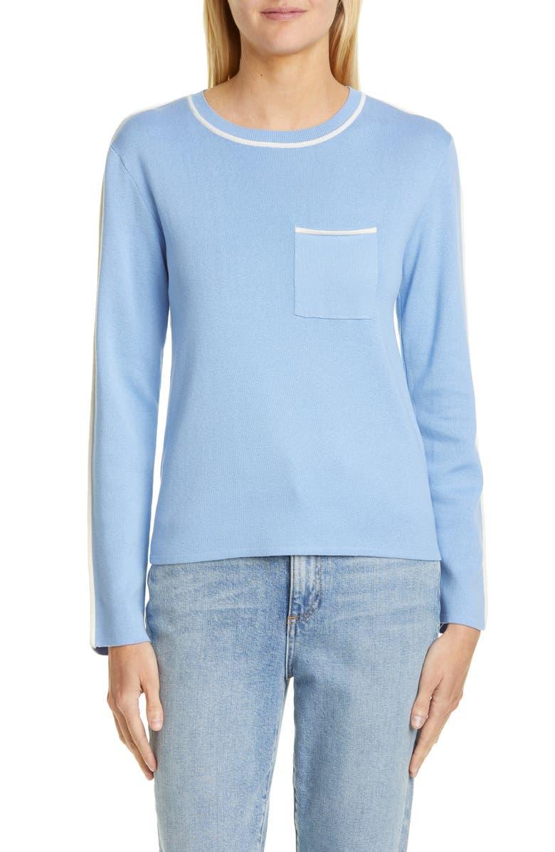 EQUIPMENT Pocket Detail Silk & Cotton Sweater, Main, color, 430