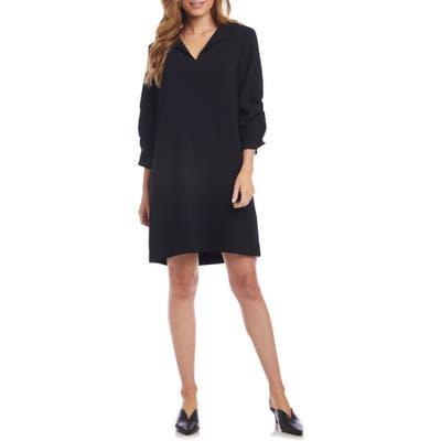 Karen Kane Ruched Sleeve Shift Dress, Black