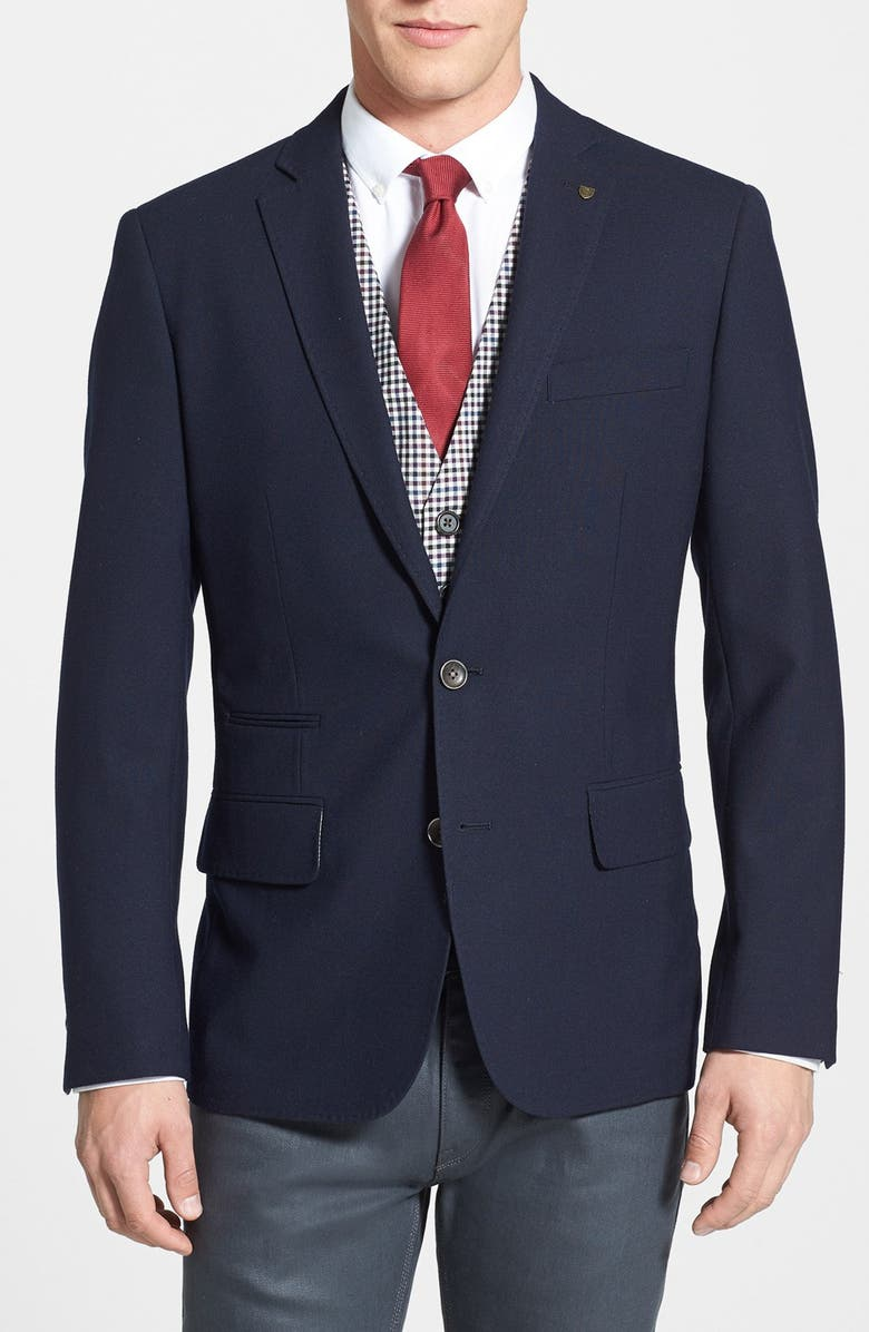 WALLIN & BROS. Trim Fit Wool Blazer, Main, color, 410