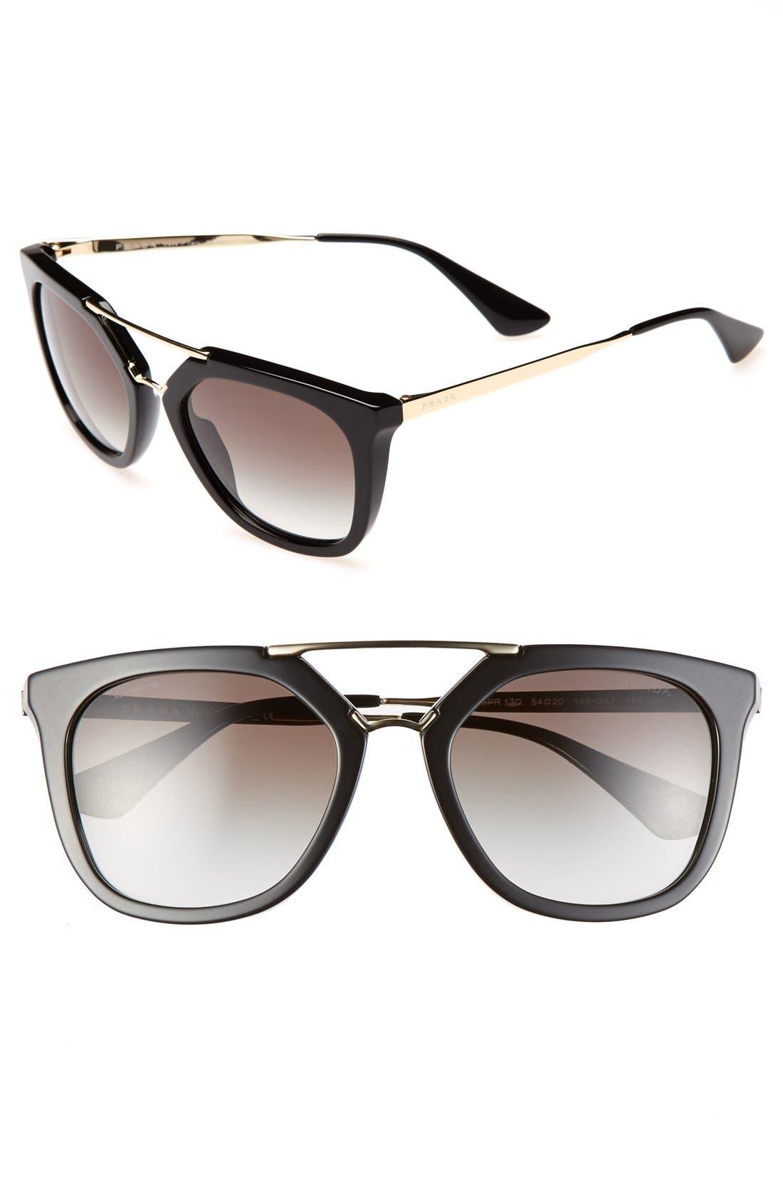 'Pilot' 54mm Sunglasses, Main, color, 001