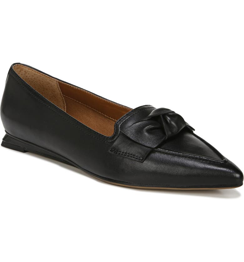 FRANCO SARTO Raya Flat, Main, color, BLACK LEATHER