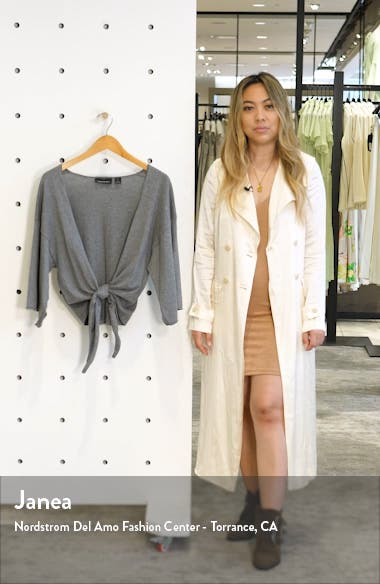 Tie Front Wrap Sweater, sales video thumbnail