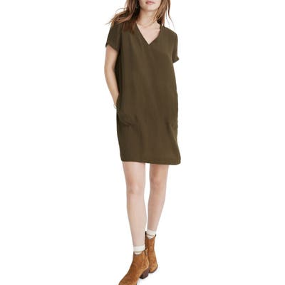 Madewell Button Back Easy Dress, Green