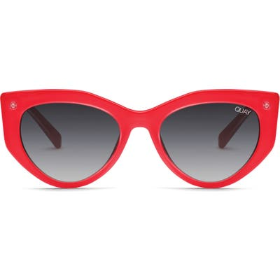 Quay Australia Persuasive 55Mm Cat Eye Sunglasses - Red / Smoke