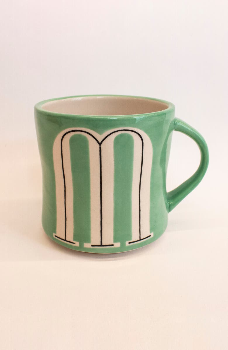 ANTHROPOLOGIE Mia Monogram Mug, Main, color, M