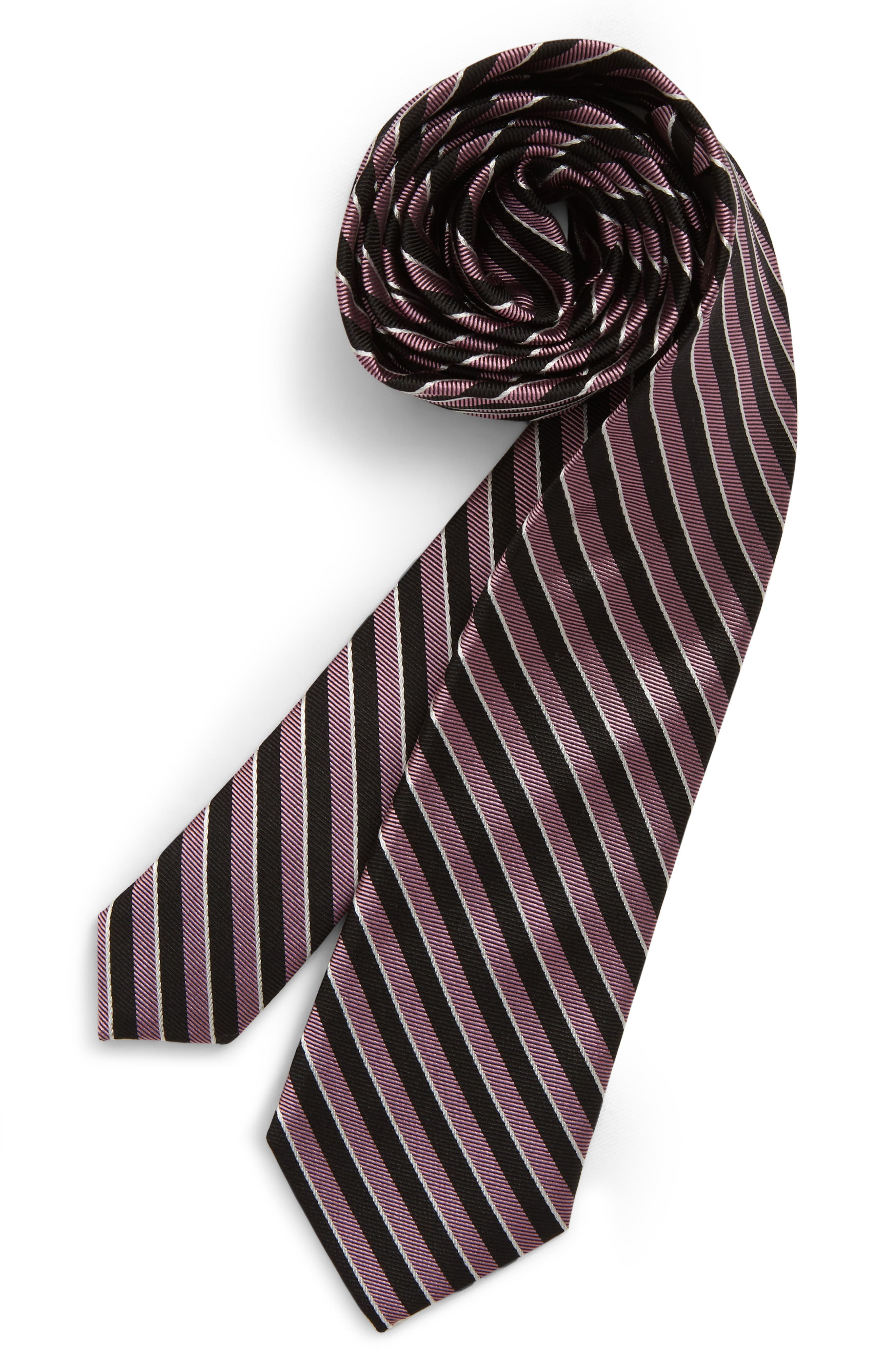 Boys Michael Kors Mini Stripe Silk Tie Size One Size  Pink