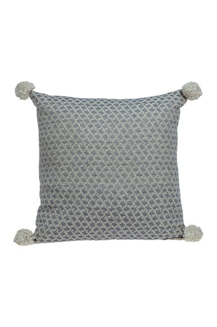 Image of Parkland Collection Allegro Transitional Ivory Throw Pillow