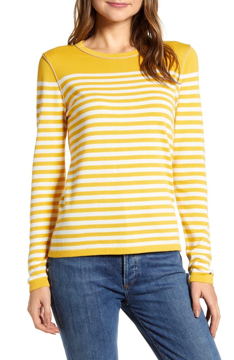 TOMMY HILFIGER Stripe Crewneck Sweater, Main, color, 738