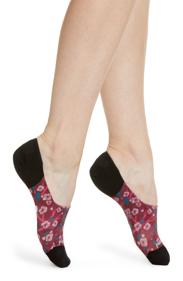 SMARTWOOL Curated Cherry No-Show Socks, Main, color, MULTI COLOR