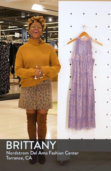 Lace Halter Neck Sheath Dress, sales video thumbnail