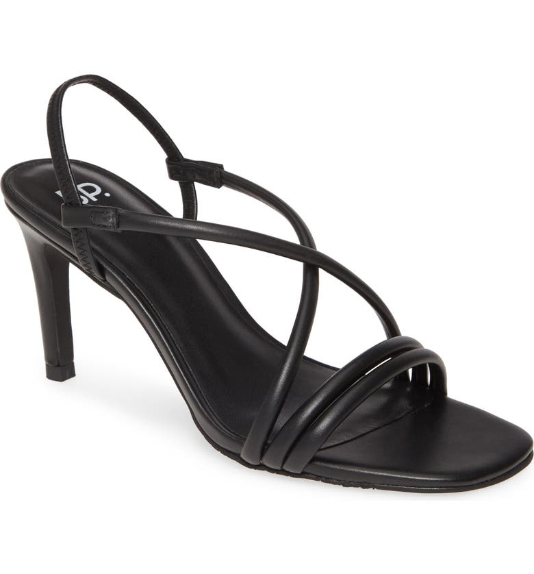 BP. Billy Strappy Sandal, Main, color, BLACK FAUX LEATHER
