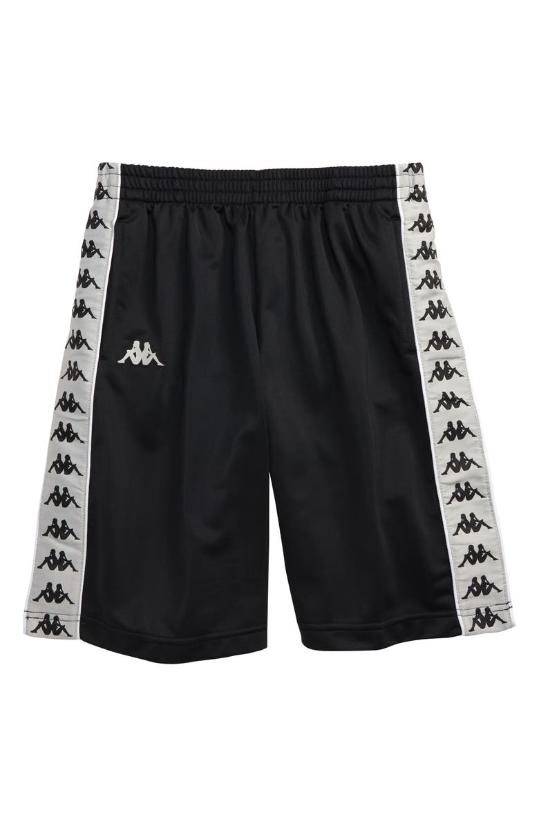 KAPPA Active 222 Banda Treadwell Athletic Shorts, Main, color, BLACK/ GREY/ WHITE
