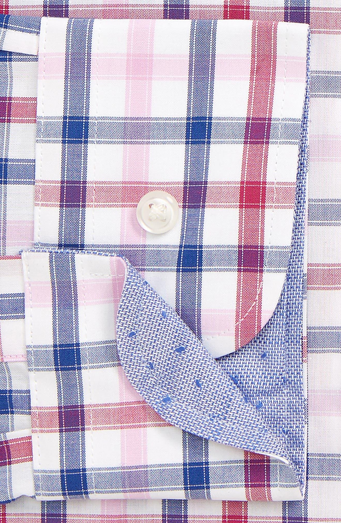 ,                             Trim Fit Non-Iron Check Dress Shirt,                             Alternate thumbnail 2, color,                             PINK HAZE