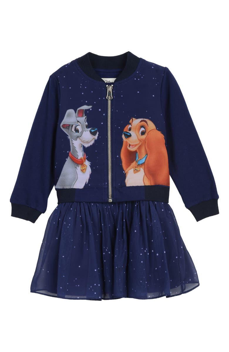 Pippa Julie X Disney Lady And The Tramp Bomber Jacket Dress Set Baby