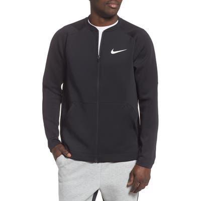 Nike Pro Dri-Fit Zip Fleece Jacket, Black