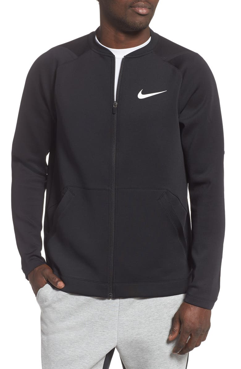 NIKE Pro Dri-FIT Zip Fleece Jacket, Main, color, 010