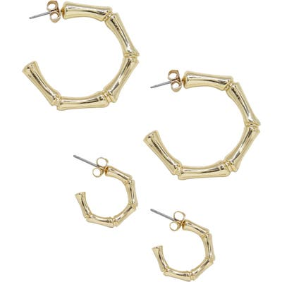 Ettika Set Of 2 Hoop Earrings