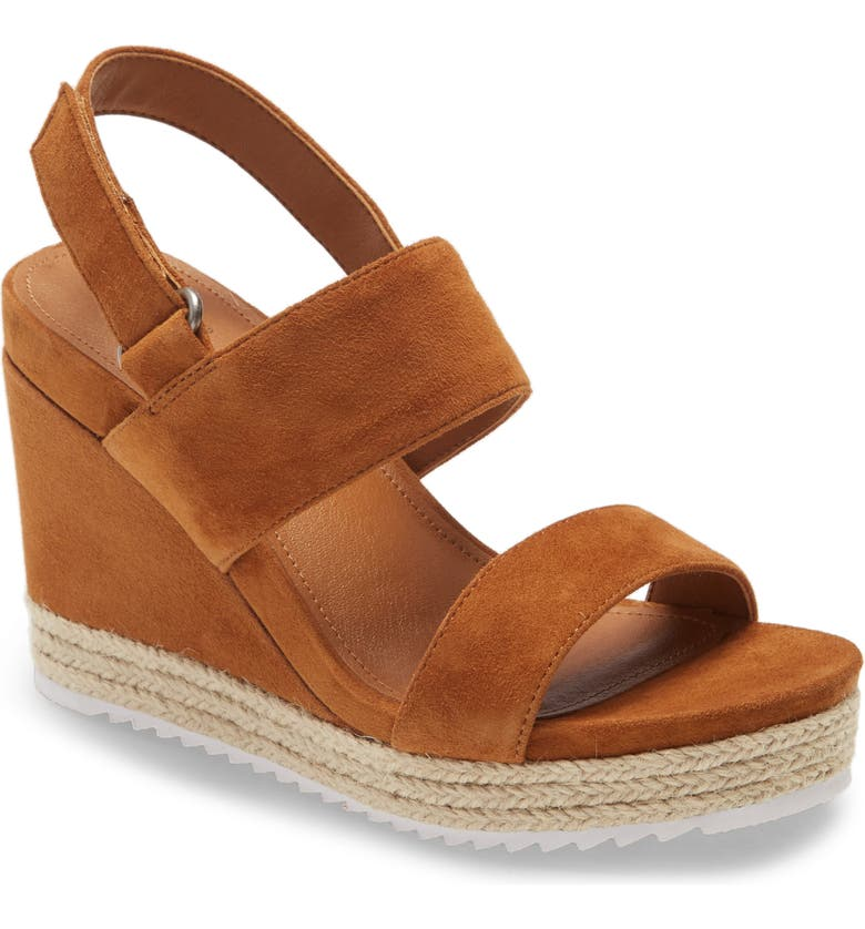 CASLON<SUP>®</SUP> Jillien Wedge Sandal, Main, color, COGNAC SUEDE
