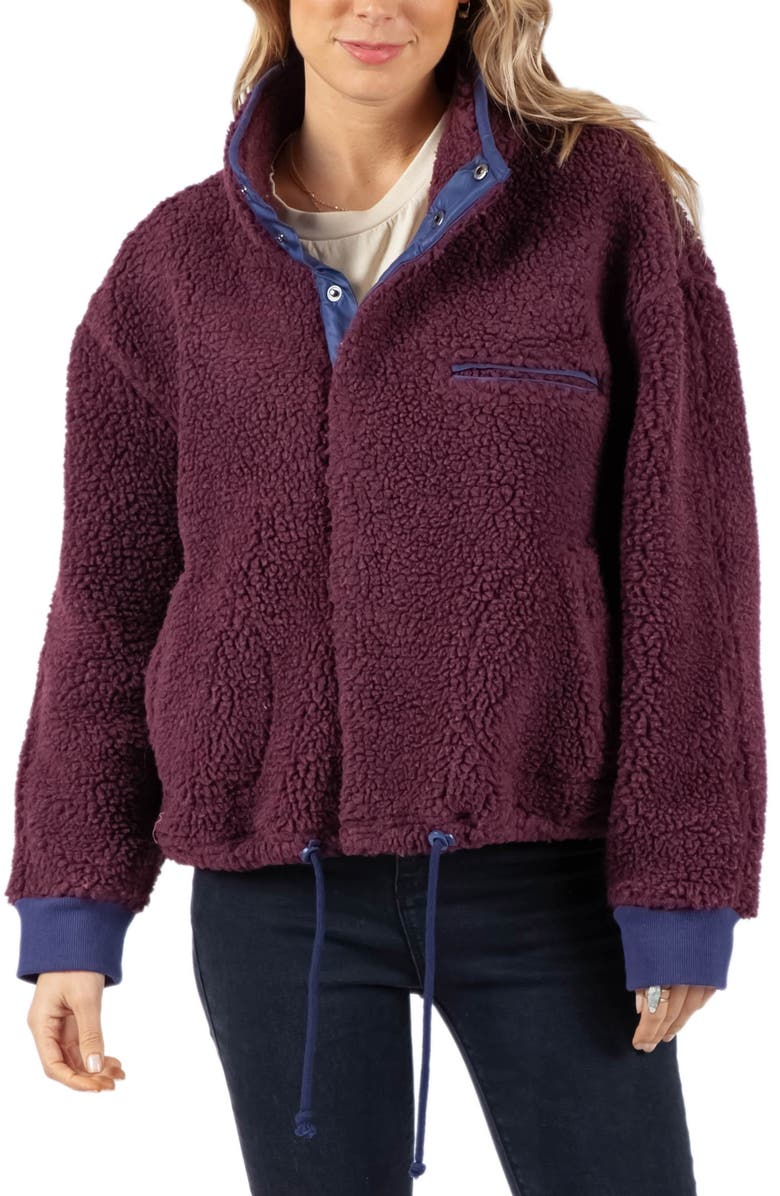 RIP CURL The Endeavour Fleece Jacket, Main, color, MAROON