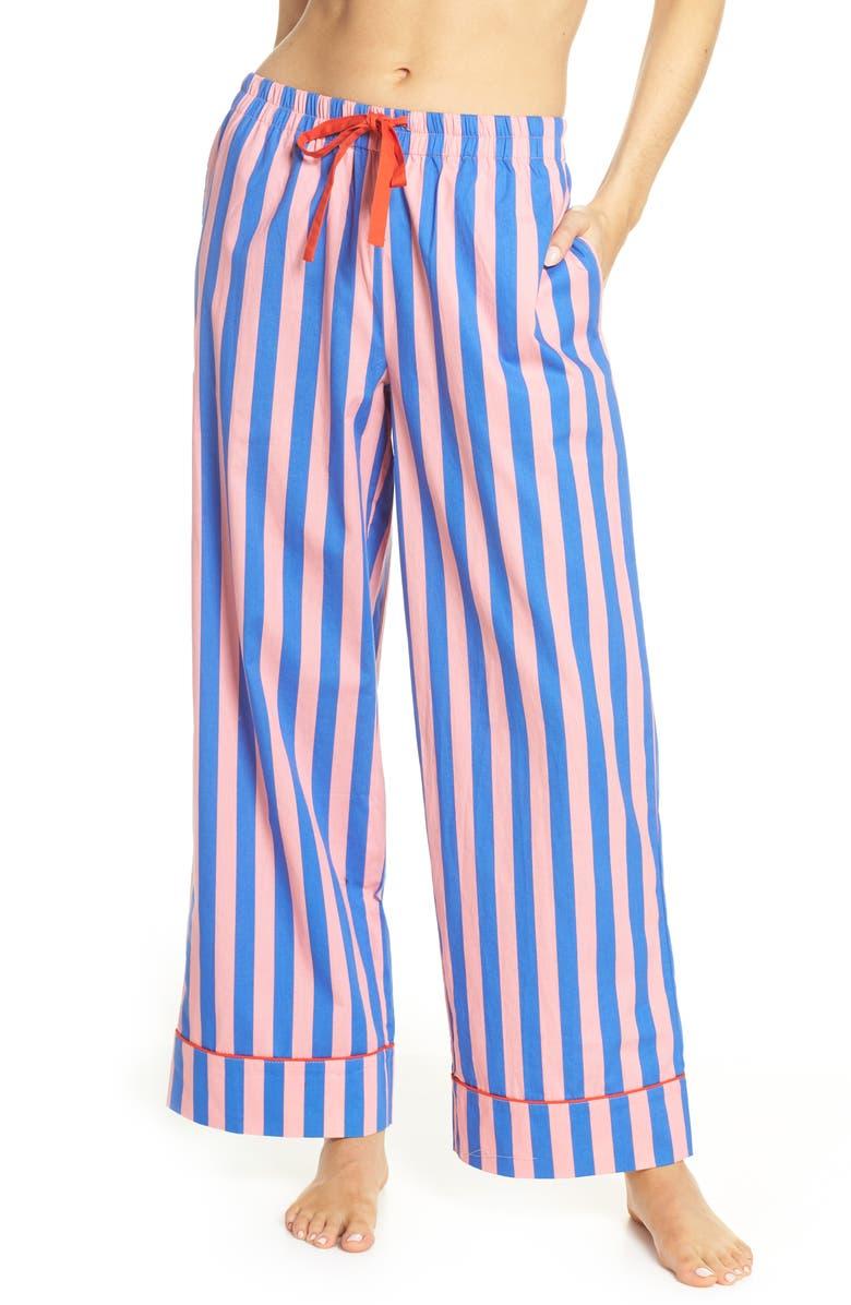BAN.DO Stripe Sleep Pants, Main, color, PINK