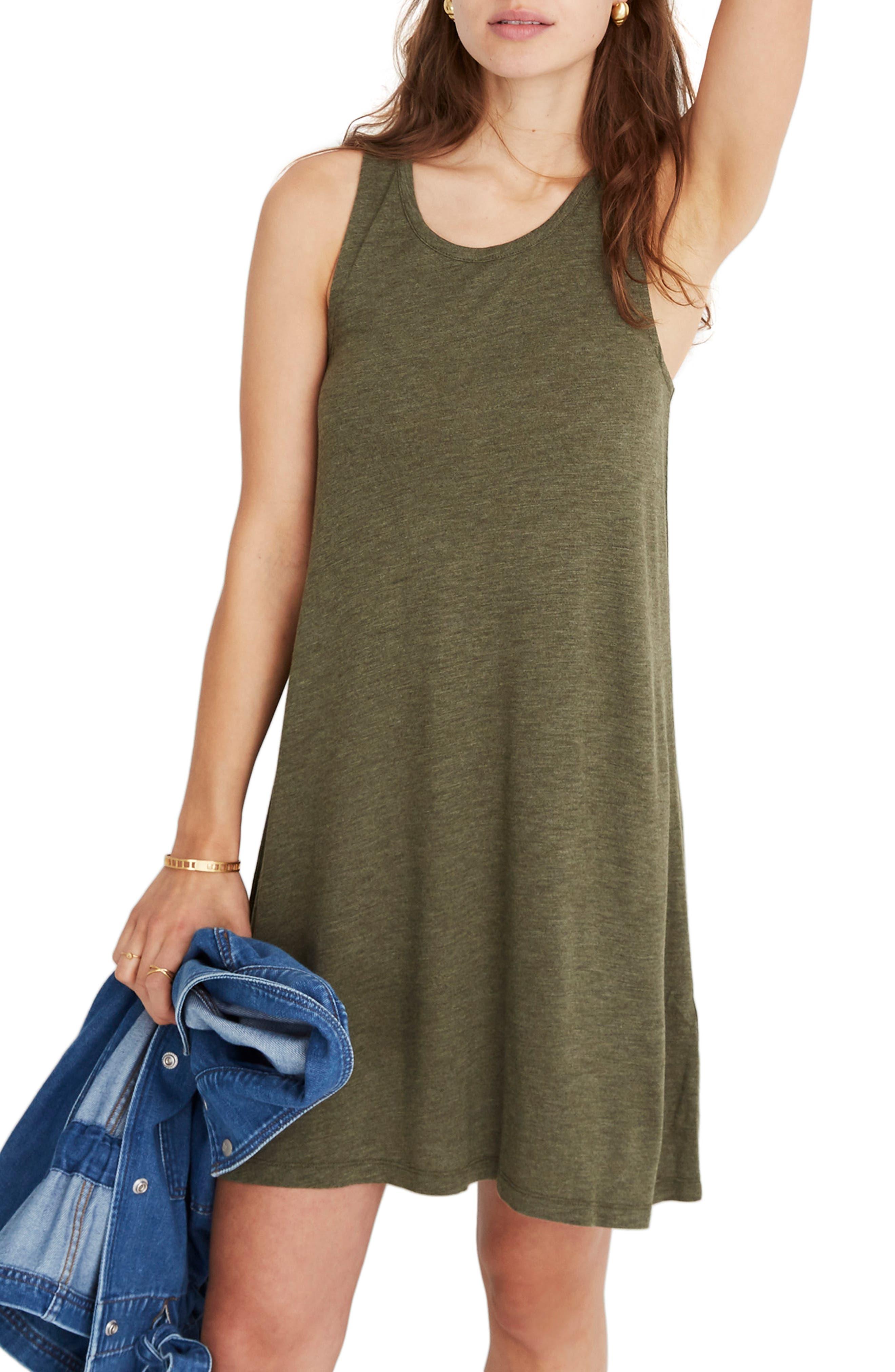 Madewell Highpoint Tank Dress, Green