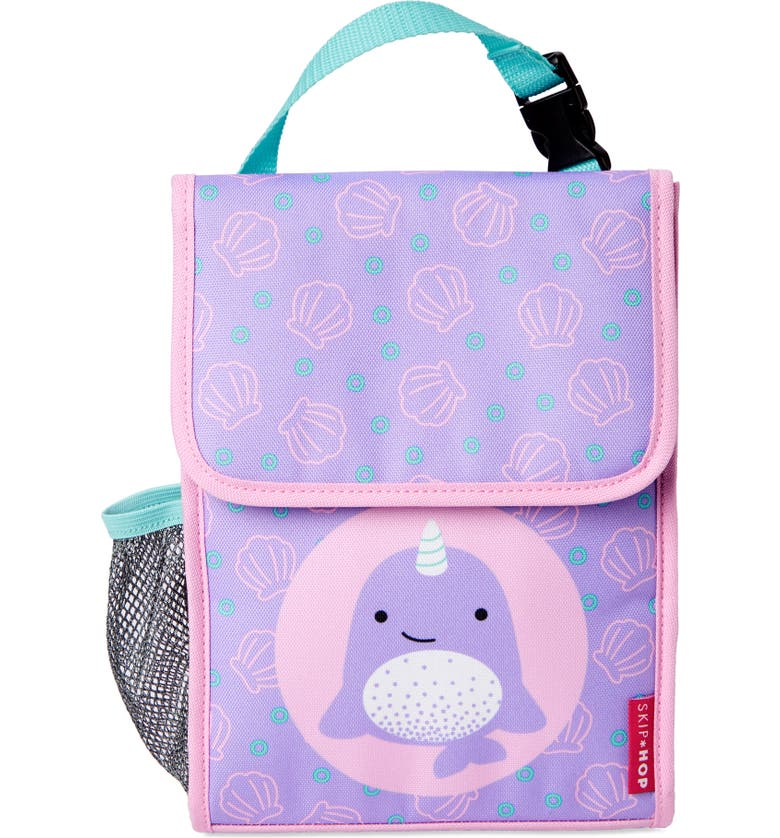 SKIP HOP ZOO<sup>®</sup> Narwhal Insulated Lunch Bag, Main, color, PURPLE MULTI