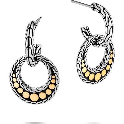 John Hardy Dot 18K Gold & Silver Drop Earrings
