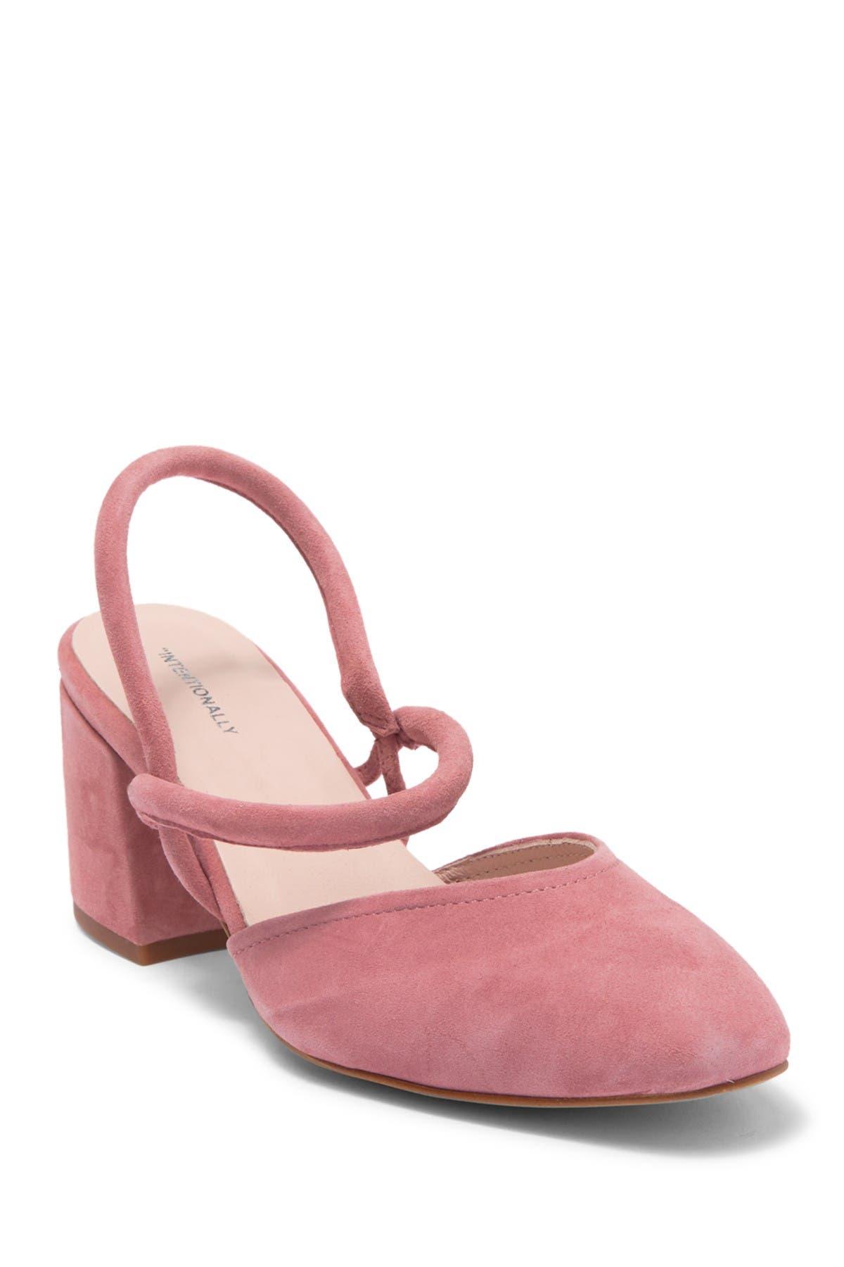 Image of Intentionally Blank Freckle Rose Suede Block Heel Pump