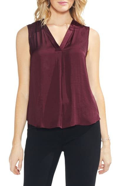 Vince Camuto Tops RUMPLED SATIN BLOUSE