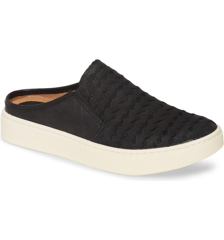 SÖFFT Somers III Sneaker Mule, Main, color, BLACK LEATHER