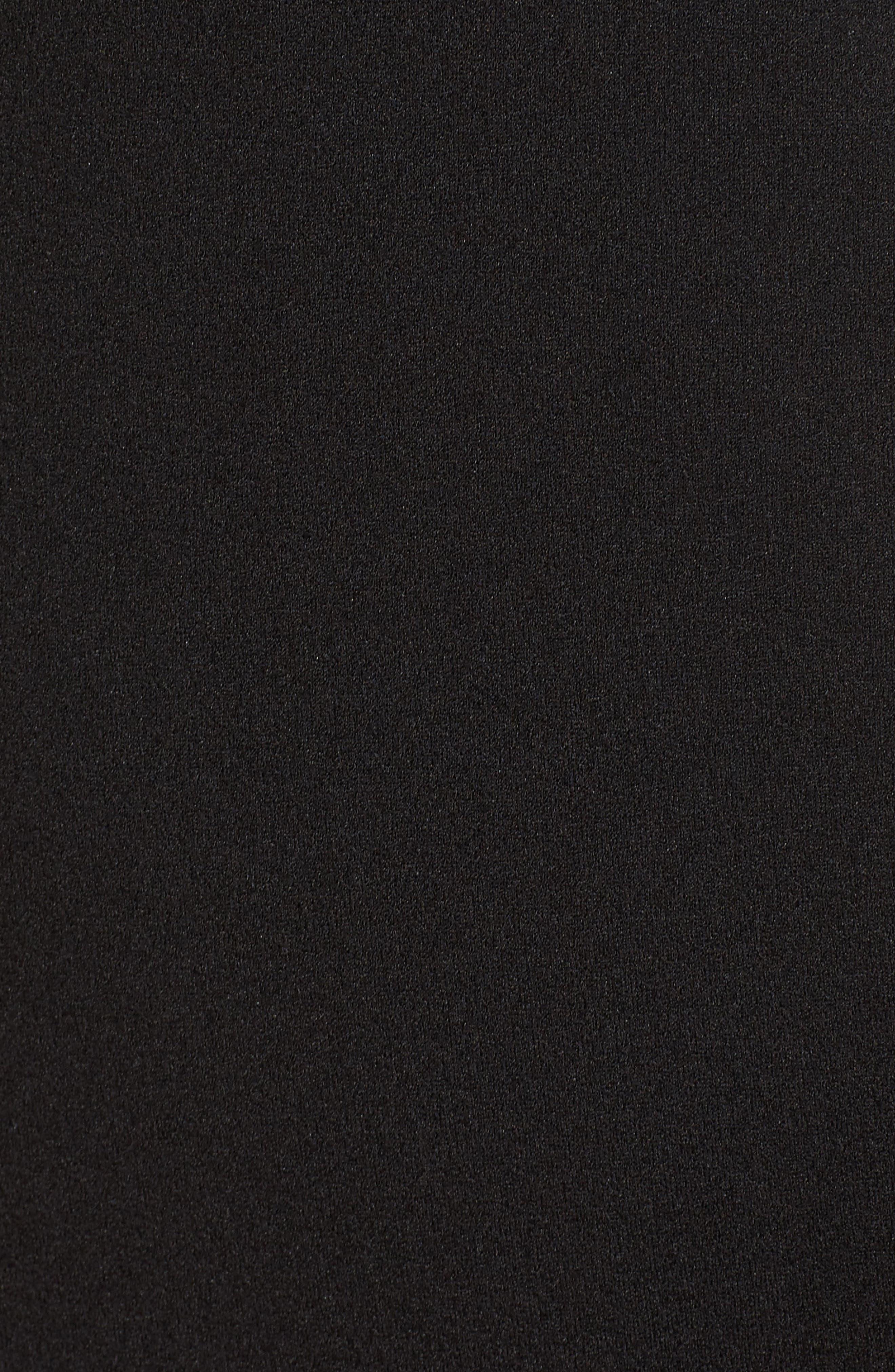 ,                             Heaven & Earth Plunge Neck Gown,                             Alternate thumbnail 6, color,                             BLACK