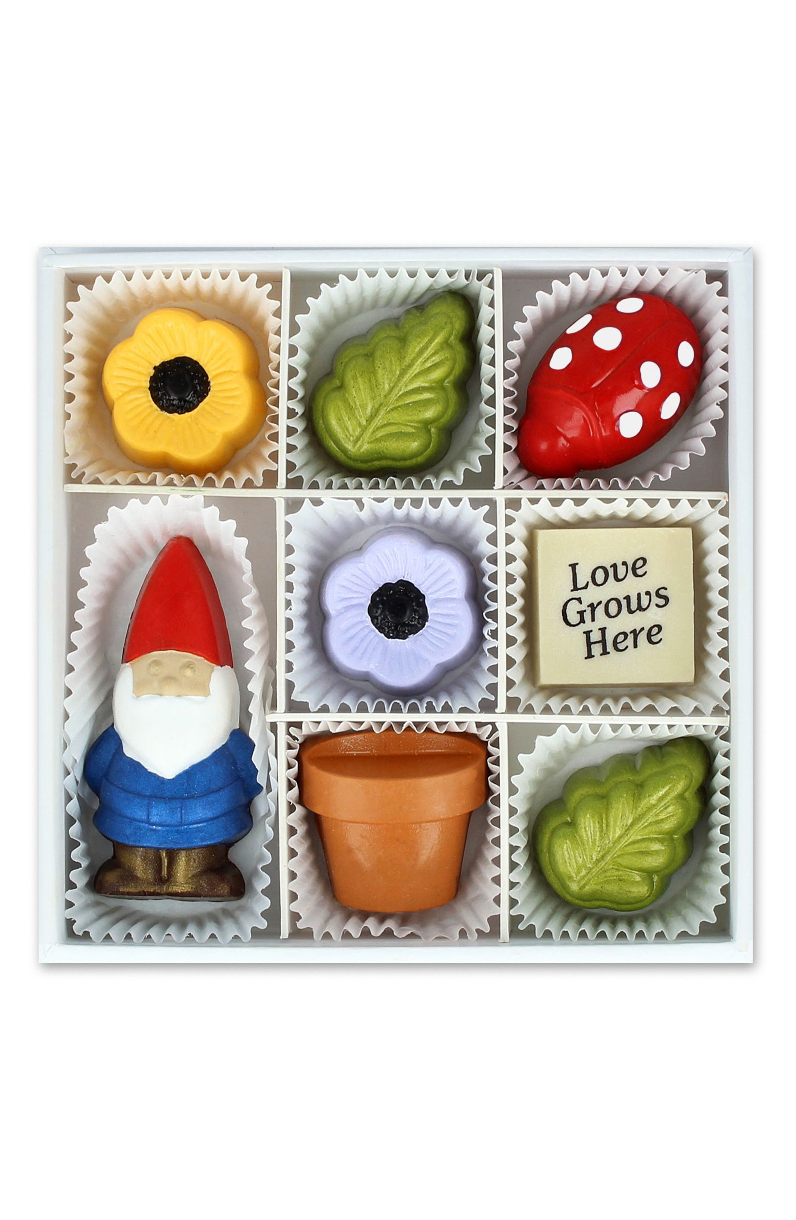 ,                             Love Grows Here 8-Piece Chocolate Set,                             Main thumbnail 1, color,                             100